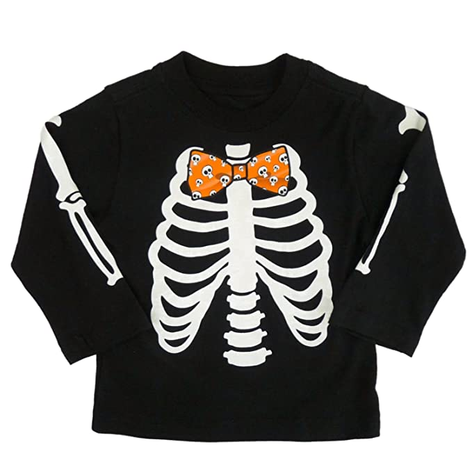 c862b5d2c Infant & Toddler Boys Black Halloween Skeleton Long Sleeve Shirt 12m