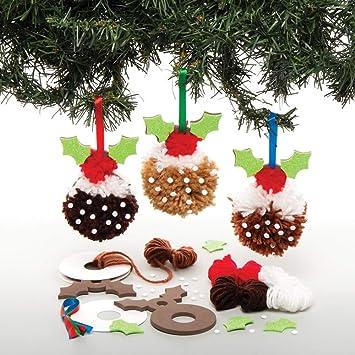 Baker Ross Kits Pompón de dulces navideños (Pack de 3) para ...