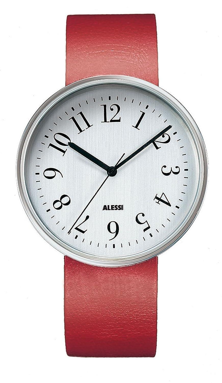 Alessi Unisex-Armbanduhr Analog Quarz Leder rot AL6004