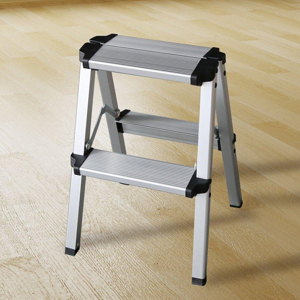 はしご2つ3つの4つの5つのステップのスツールノンスリップの折り畳み家庭のパビリオンのペダルヘリンボーンの二重使用インドア (色 : 2 Step) B07DD67TN7 2 Step 2 Step