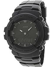 Casio G-Shock Analog Digital Dual Time Men Watch G-100BB-1A G-100BB-1ADR (All Black)