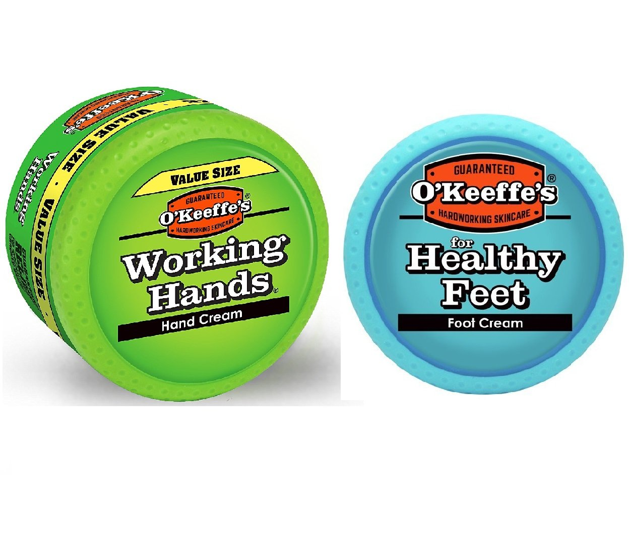 O'Keeffe's Working Hands 6.8oz Value Size - Healthy Feet Cream 3.2oz, Combo by