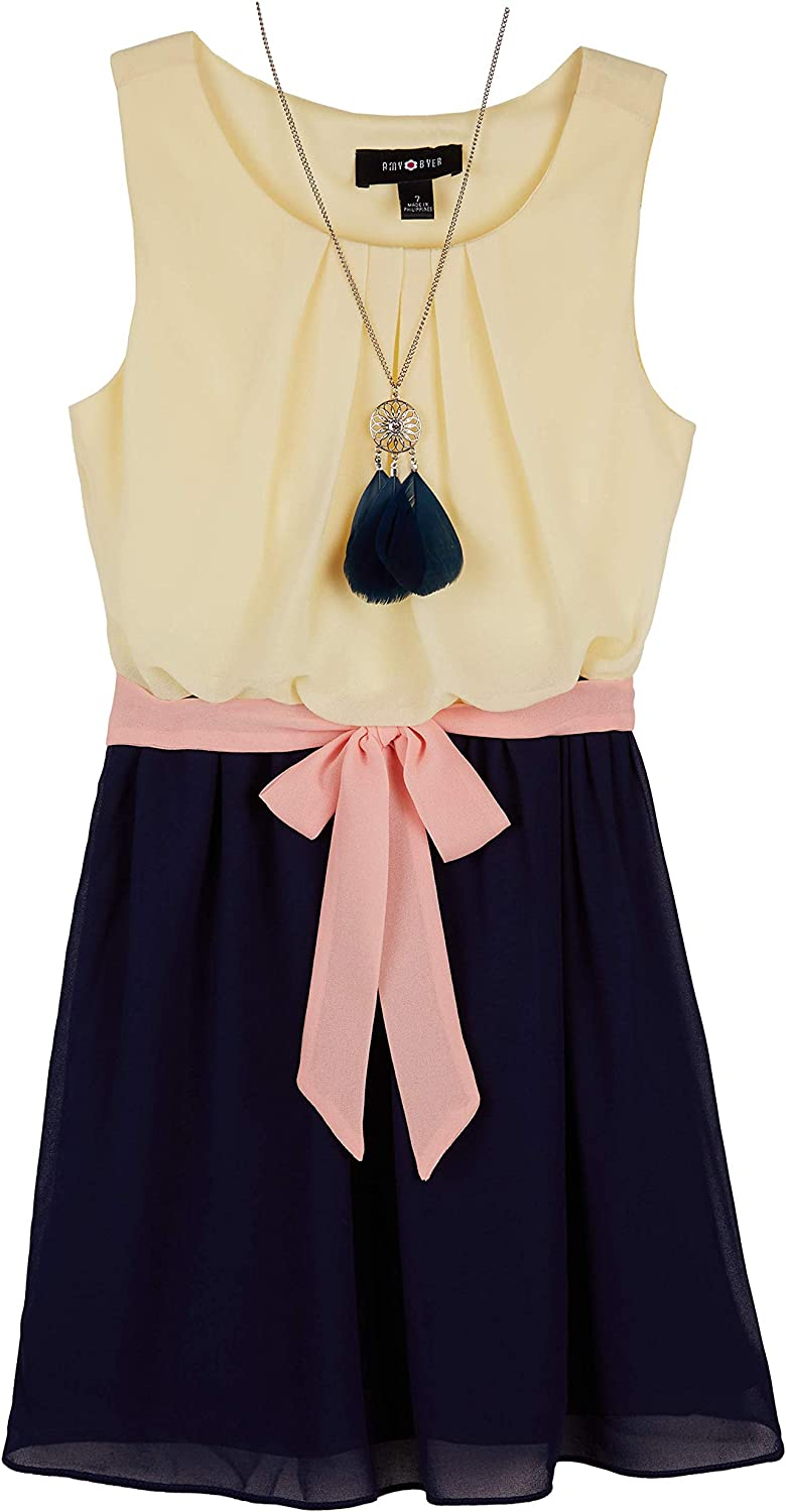 Byer Sleeveless Ruffle Front Necklace A