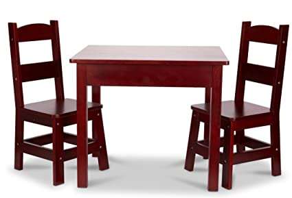 Melissa u0026 Doug Table u0026 Chair - Painted Espresso Childrenu0027s Furniture  sc 1 st  Amazon.com : painted tables and chairs - Cheerinfomania.Com