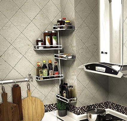 YANZIFEI Cocina Girar colgar en la pared A prueba de humedad Almacenamiento Sólido A prueba de