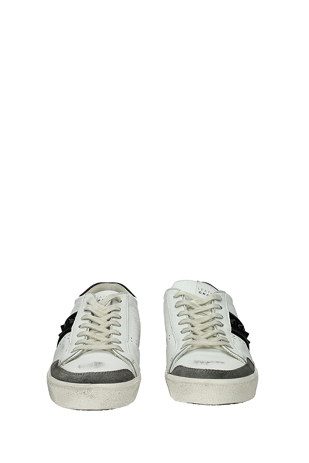 Leather Crown Sneakers Herren Leder (MCL1782BIANCOGREYNERO