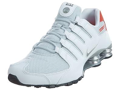 buy online 2582d dbb41 Nike Shox NZ SE Men s Shoes White Max Orange Black Metallic Silver 833579