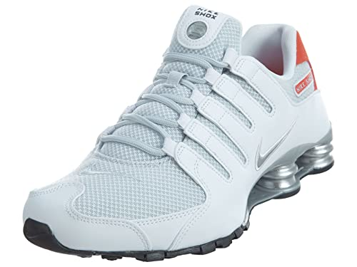 buy online 293fa 6e486 Nike Shox NZ SE Men s Shoes White Max Orange Black Metallic Silver 833579