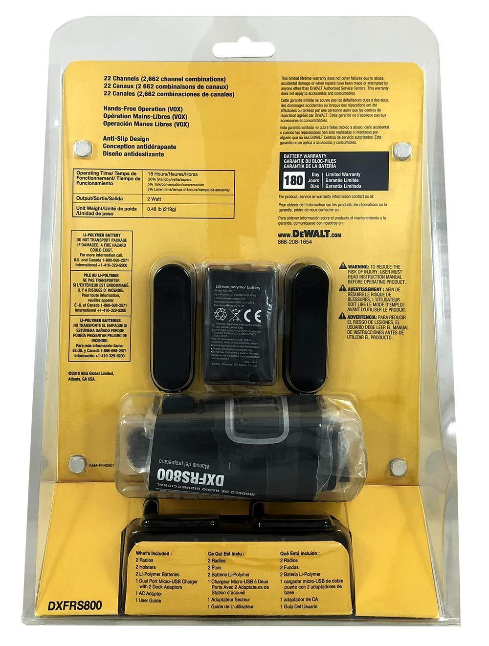 DeWALT DXFRS800 2W Walkie Talkies Heavy Duty Business Two-Way Radios (Pair) by DEWALT (Image #13)