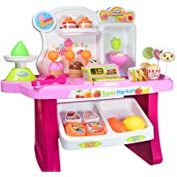Vivir Kid's Supermarket Cash Register Set with Ice Cream and Sweets (Multicolour)