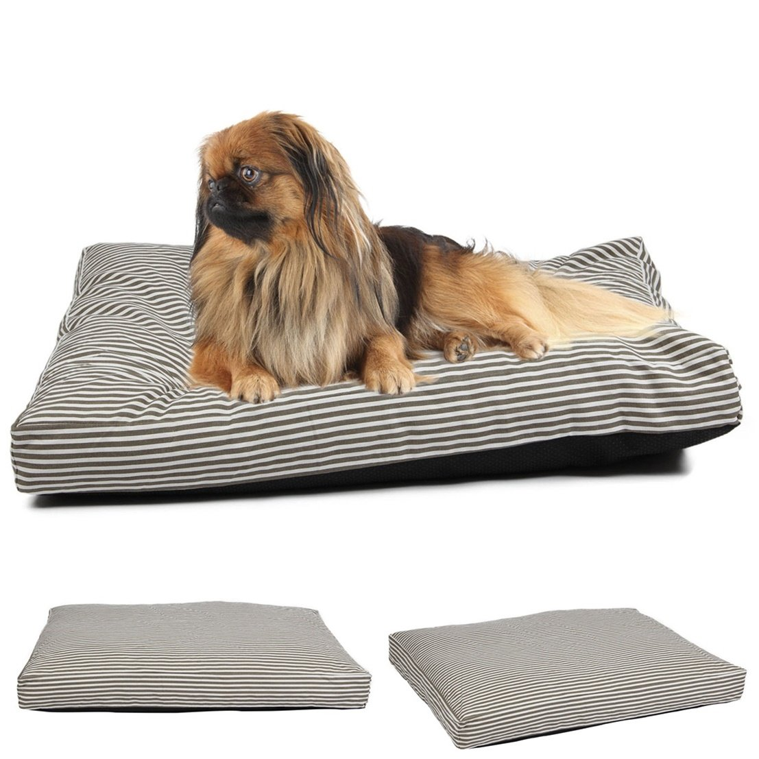 1Pcs Best Popular Pet Bed Cover Size L 36'' x 29'' Large Mat Dog Comfort Replacement Color Type Stripe Canvas
