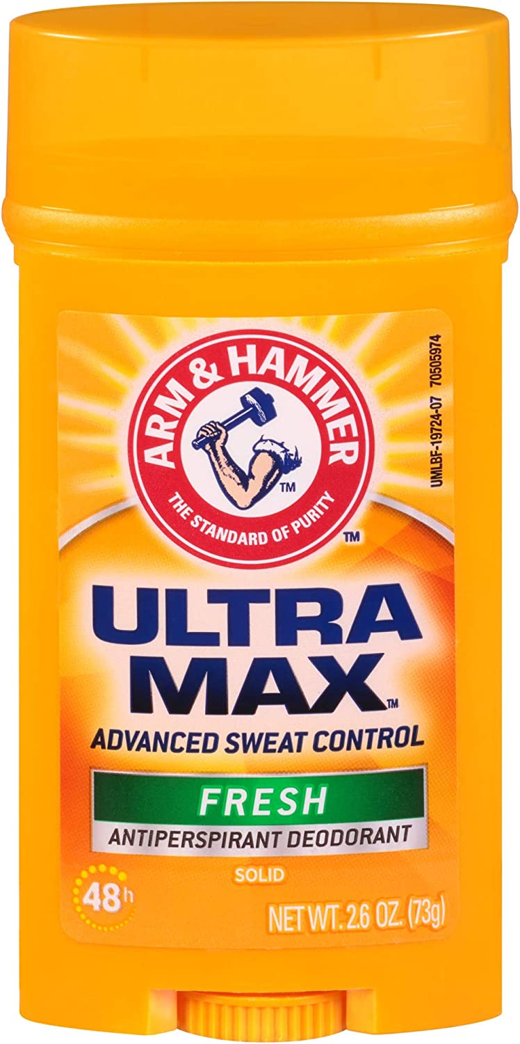Arm & Hammer Ultramax Solid Antiperspirant Deodorant Wide Stick, Fresh Scent 2.6 oz.