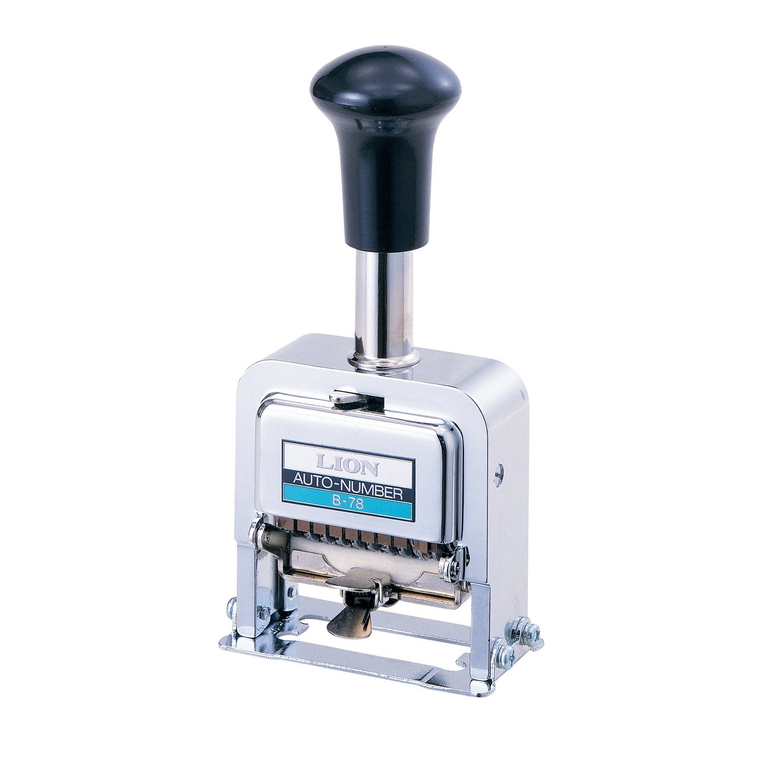 Lion Pro-Line Heavy-Duty Automatic Numbering Machine, 8-Wheel, 1 Numbering Machine (B-78)