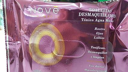 NOVE - Toallitas Desmaquillantes Con Tonico Agua Micelar Nove ...
