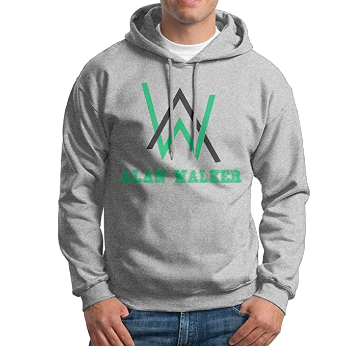 Minloo L hombres de Alan Walker sudadera con capucha de fresno Negro gris XL: Amazon.es: Ropa y accesorios