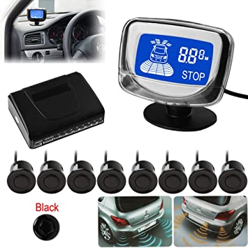 Car Reverse Parking Sensor Rear Sensors LCD Display Audio Buzzer Alarm Decent
