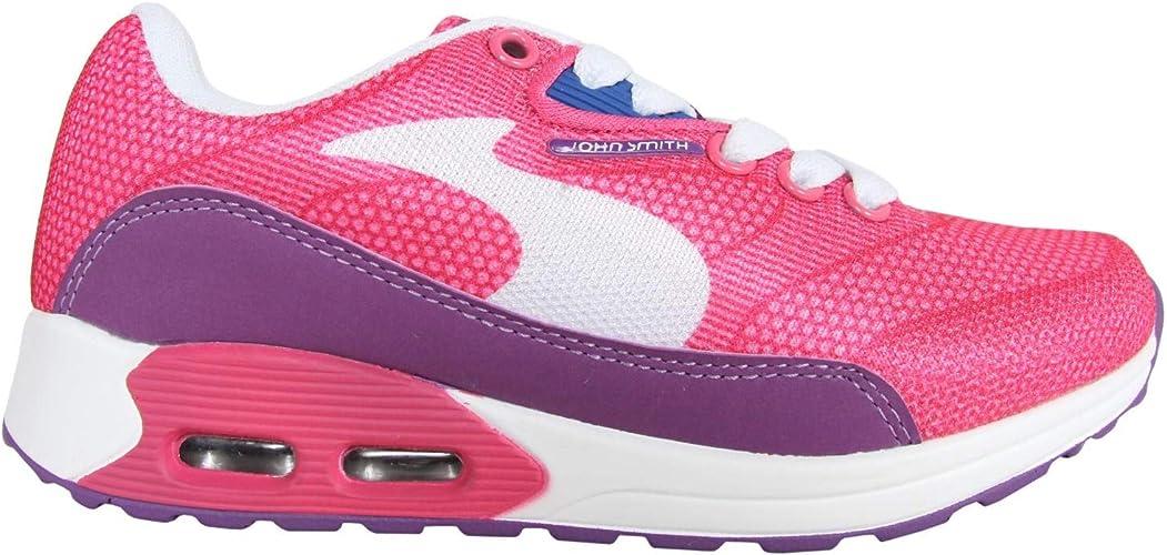 Zapatillas Deporte de Niño y Niña JOHN SMITH RESO M JR 15V Rosa Talla 34: Amazon.es: Zapatos y complementos