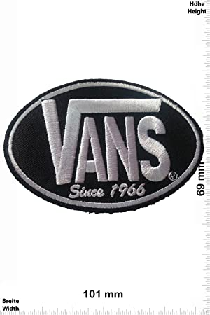 Parches - Vans - Black/Black -Cool Brands - Vans - Parche Termoadhesivos Bordado Apliques - Patch: Amazon.es: Coche y moto