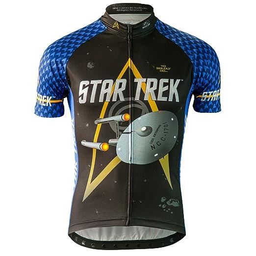 Amazon.com  Men s Star Trek Science Cycling Jersey (Blue)  Sports ... 675740669
