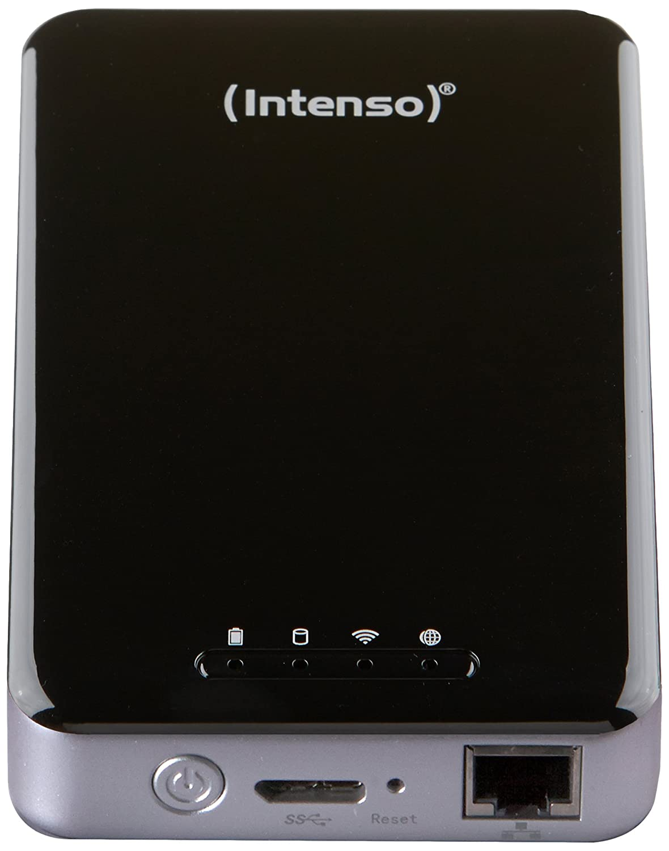 Intenso Memory 2 Move Pro Externe Festplatte mit integriertem Kartenlesegerä t 1TB (6,4 cm (2,5 Zoll), 5400rpm, 8MB Cache, WiFi, USB 3.0) schwarz 6025860