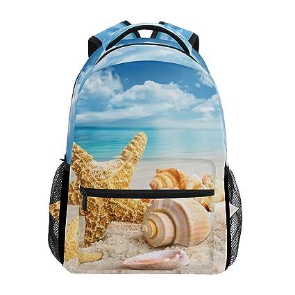ZZKKO - Mochilas de playa, diseño de estrella de mar