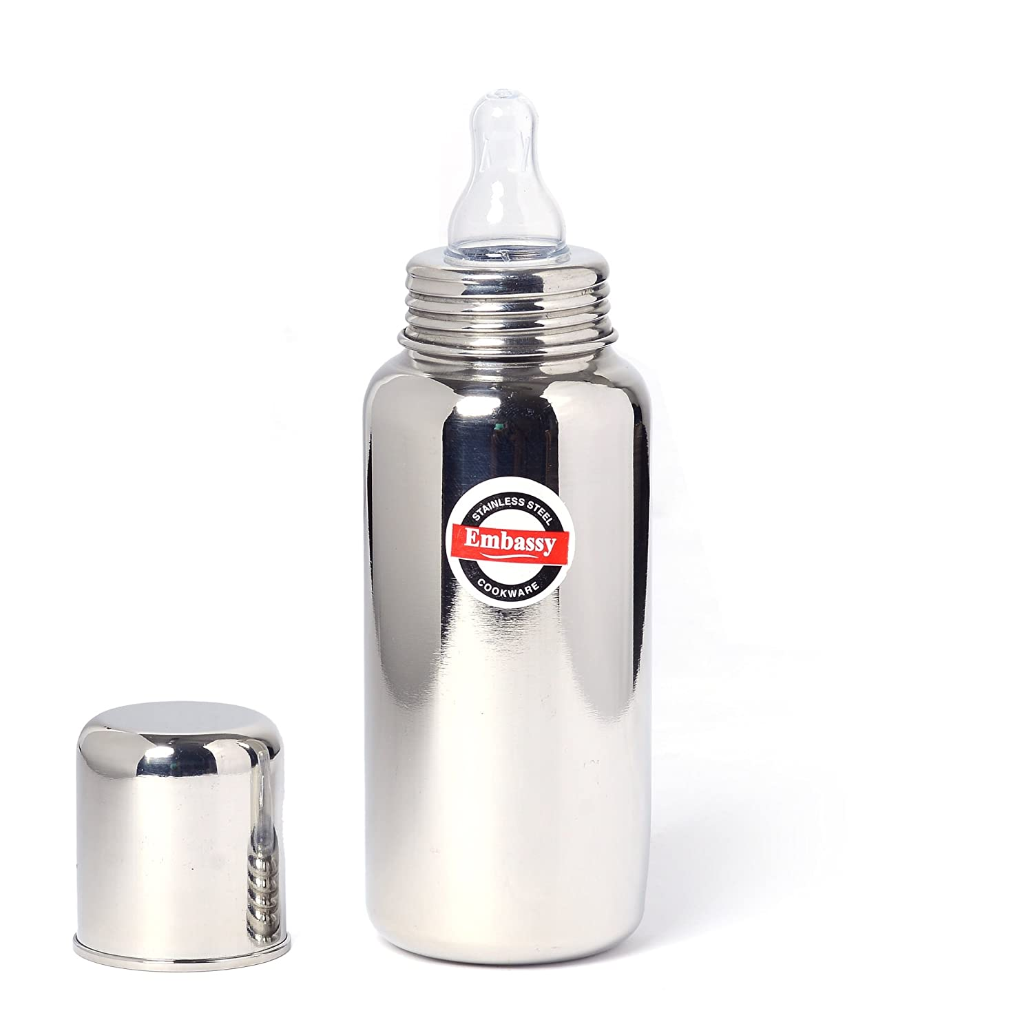 7. Embassy 304 Grade Stainless Steel Baby Feeding Bottle