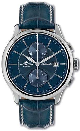 Mondia swiss Classic Reloj para Hombre Analógico de Automático Suizo con Brazalete de Piel de Vaca MS 630-13BL-CP: Amazon.es: Relojes