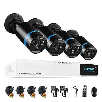 H. View 1080P - Sistema de cámaras de seguridad HD 1080p, cámara exterior tipo bullet de infrarrojos ...