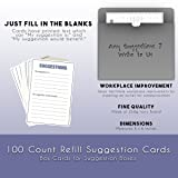 100 Count Refill Suggestion Box Cards for