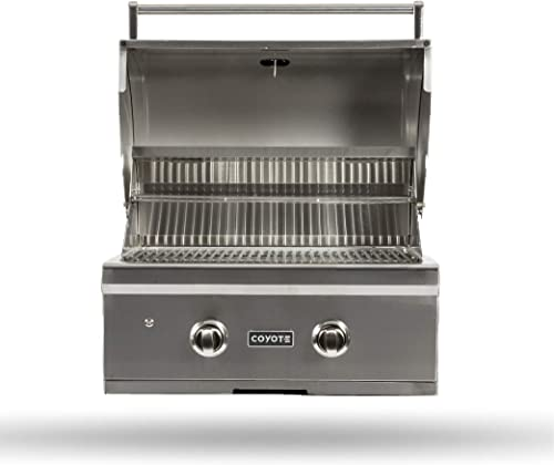 Coyote C-Series 28-in. Natural Gas Grill, 2-Burner Built In Grill, 40,000 BTUs – C1C28NG