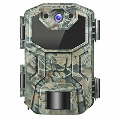"Victure Trail Camera 16MP 1080 HD 2.0"" LCD Game Cam Night Vision Motion Activated with Upgrade Waterproof Design 38Pcs IR LEDs No Glow for Wildlife Hunting"
