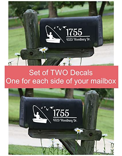 Amazon com: Personalized Fisherman Mailbox Letters Set of 2