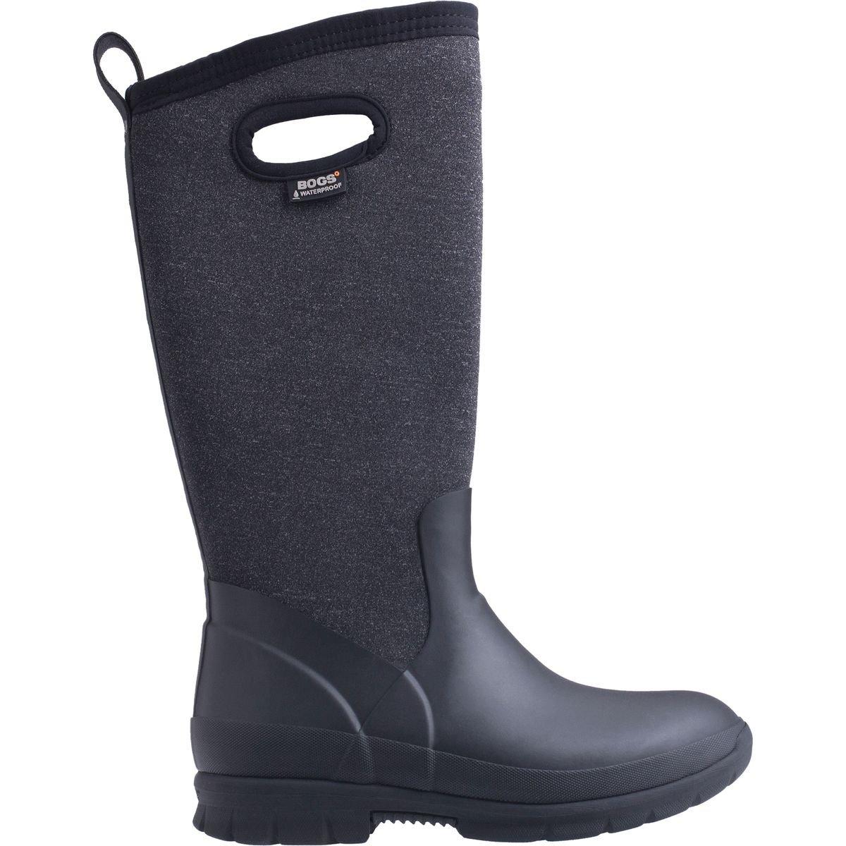 Bogs Women's Crandall Tall Snow Boot, Black/Multi, 8 M US