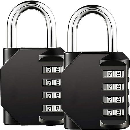 Cadenas à Combinaison de 4 Chiffres,Gvoo 2 Pack à Code à Étanche et...