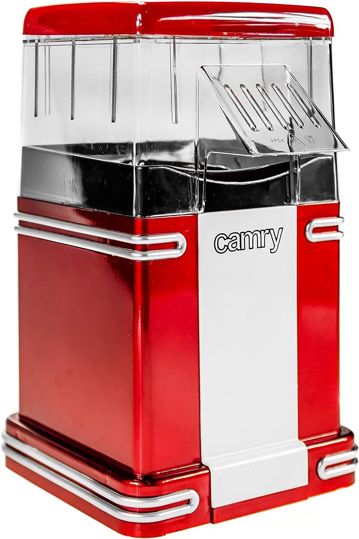 Camry CR-4480 Maquina para Hacer Palomitas, plastico, Rojo, 20.2 x 17.5 x 28.5 cm