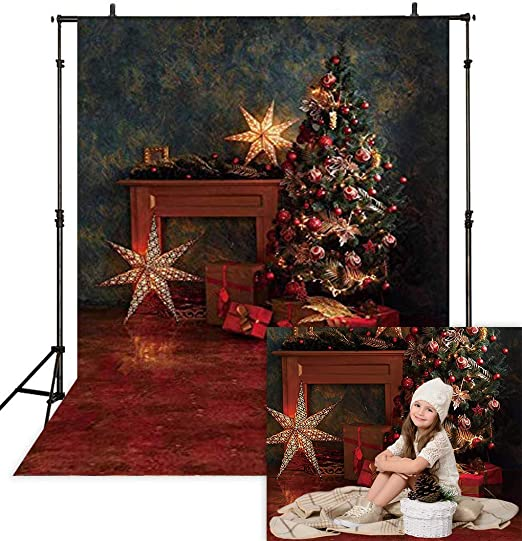 Cars 8x6 FT Vinyl Photography Backdrop,Christmas Themed Hand Drawn Cars with Santa Hats and Presents on Winter Holiday Background for Photo Backdrop Baby Newborn Photo Studio Props