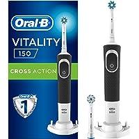 Oral-B D150 Şarj Edilebilir Diş Fırçası + 1 Yedek Başlık, Siyah