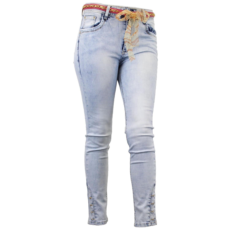 Da Donna Strappato Jeans skinny sbiadito SLIM FIT DENIM UK taglia 6 8 10 12 14 16
