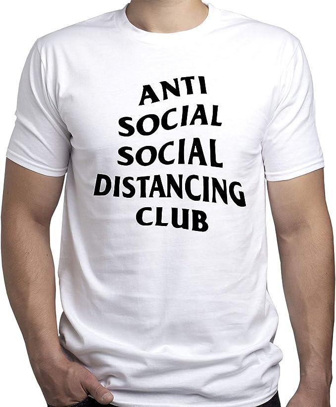 Social Distance Anti Social Camiseta para Hombre