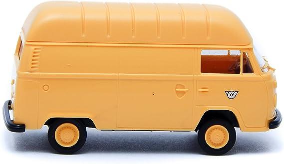 H0 Brekina Volkswagen VW T 2 encadré transporteur camionnette Lichtgrau # 33545