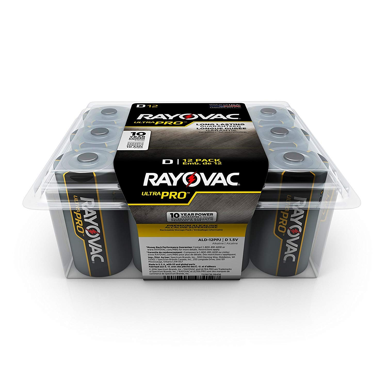 Rayovac D Batteries, Ultra Pro Alkaline D Cell Batteries (24 Battery Count) (24 Count)