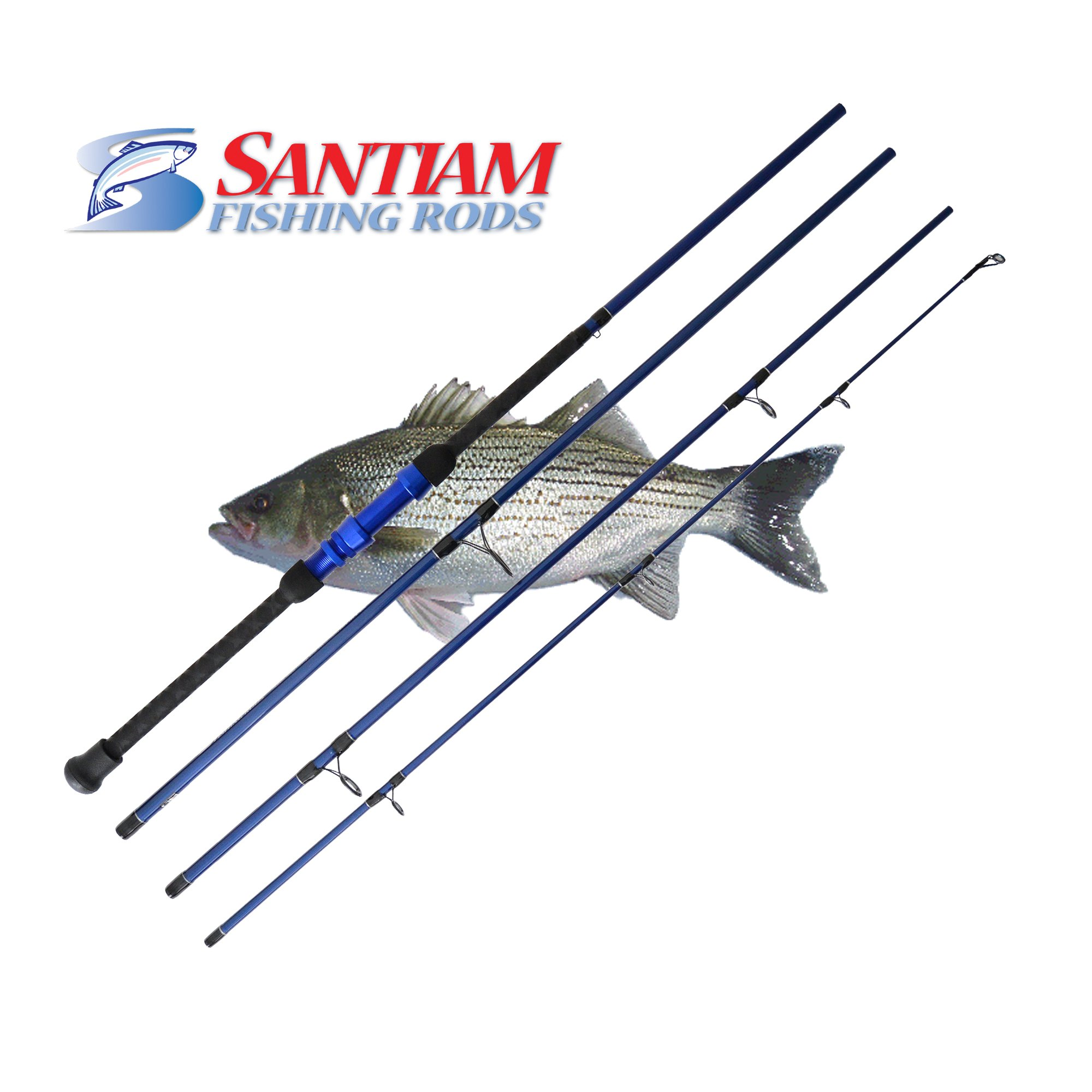 Santiam Fishing Rods Travel Rod 4 Piece 9'0'' 12-25lb Surf Rod