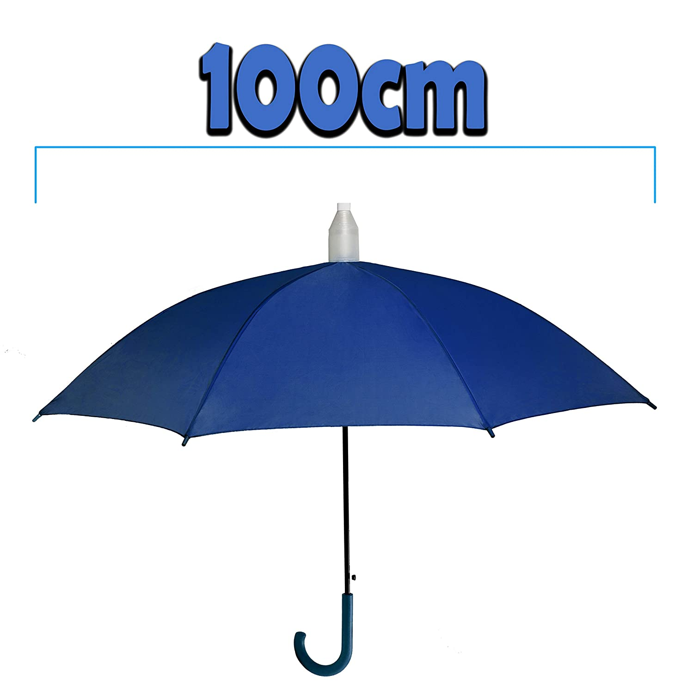 1 ombrello salvagoccia che non bagna colore light blue con custodia in plastica tasto automatico azzurro turchese