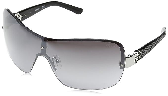 Guess Pilot Gafas de Sol, Plateado/Negro/ral 9006, 52 para ...