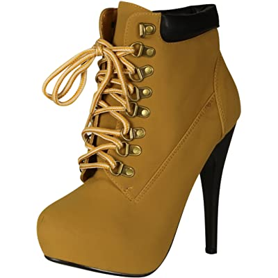 Forever Link Womens Compose-01 Tyrant Military Lace Up Platform Ankle Bootie | Ankle & Bootie