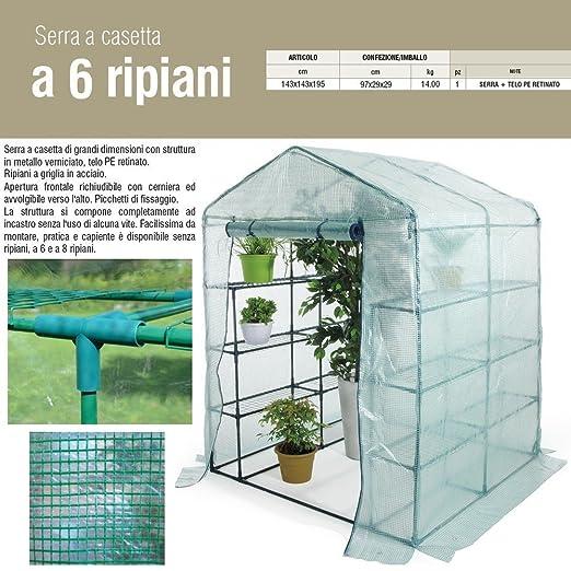 13 opinioni per Serra casetta 6 ripiani acciaio H195xL143xP143cm telo PE piante giardino 647/24