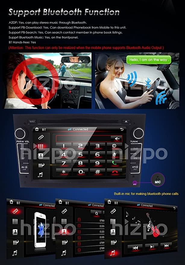 Black 7 inch Car Audio Stereo Double Din In Dash for Opel Vauxhall Corsa  Vectra Astra Support GPS Navigation DVD Player Bluetooth Car Radio SD USB +