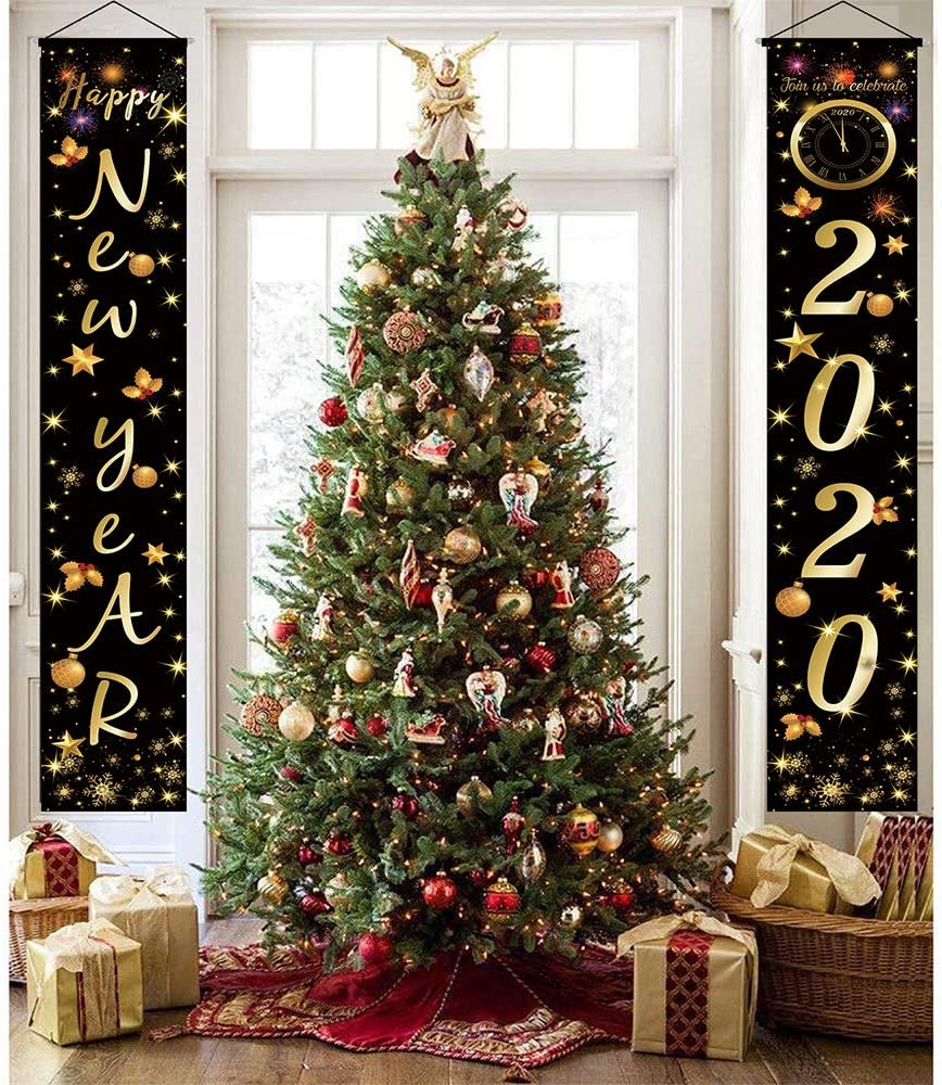 Merry Christmas Porch Sign Red Xmas Decor Banners for Home Wall Door Apartment Party SaYaLa Christmas Decorations Outdoor Indoor