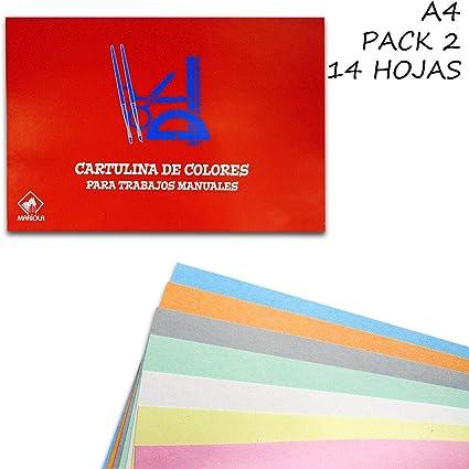Starplast, Pack 2 Blocs de Papel, Tectura Eeciclado, 14 Hojas, A4, 21x29,7cm para Manualidades, Dibujo, Diseños,etc. 7 Colores Pastel: Amazon.es: Oficina y papelería