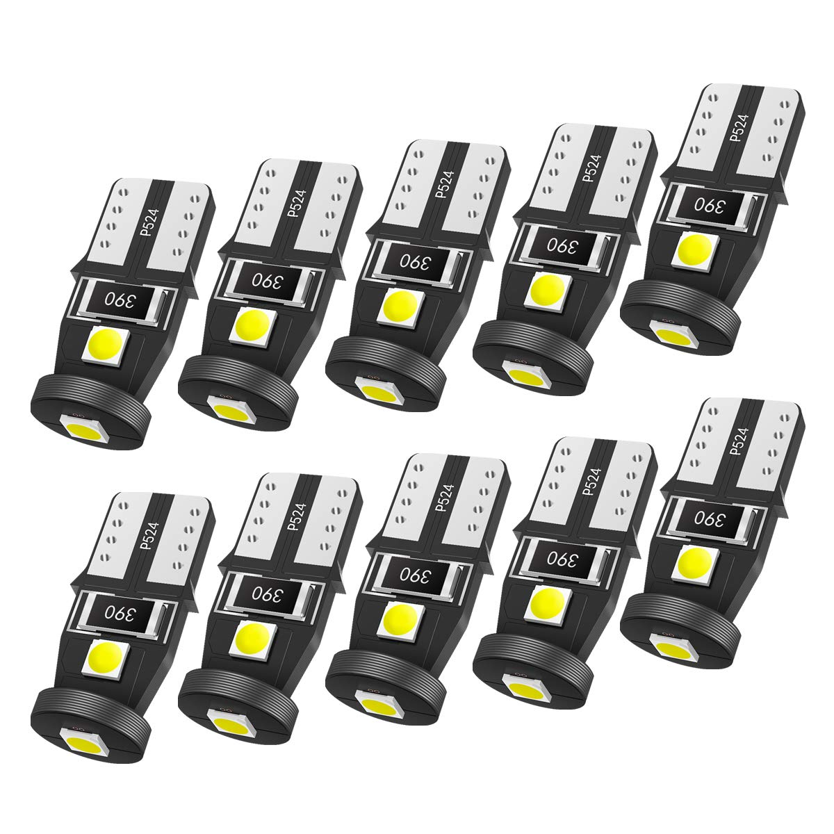 SEALIGHT 194 LED Bulb Interior Car Lights, 168 2825 W5W T10 Extremely  Bright 3030 Chipset, Non-polarity, for License Plate Dome Map Door Courtesy  Park